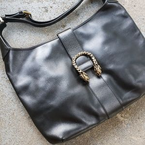 Rare GUCCI Italy pre Dionysus leather tiger bag